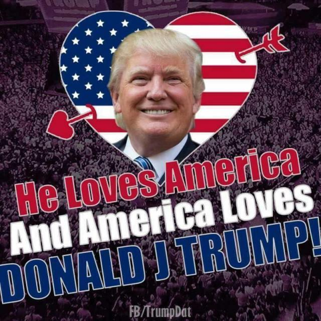 trump love usa