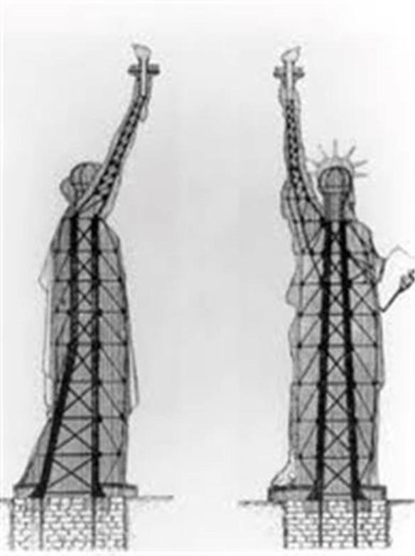 eiffel ben trong tuong liberty