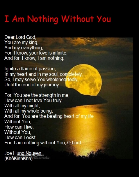 I am nothing without you Jpeg